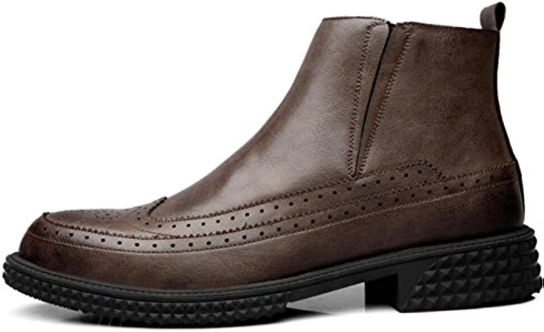 Männer Niedrig Um Martin Stiefel Mode Stiefel Herbst und Winter Koreanische Version der Werkzeug Stiefel Zu Helfen