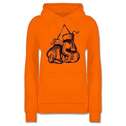 Kampfsport - Boxhandschuhe - M - Orange - JH001F - Damen Hoodie