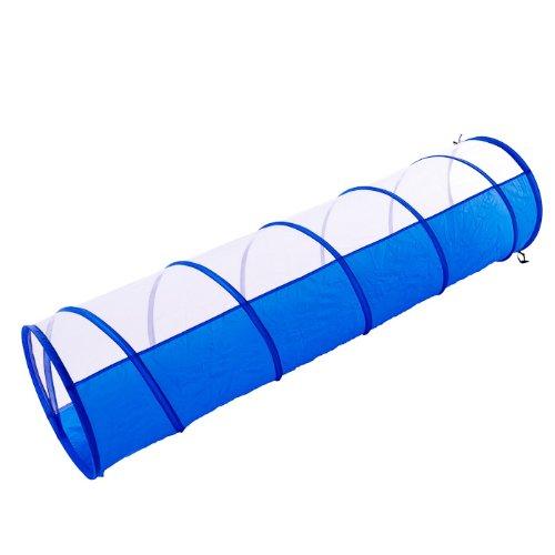 Spieltunnel für Welpen (und Kinder) blau-weiß 180 x 48 cm + Tasche