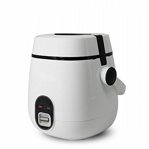 ZH Elektrische Brotdose Doppelte Schicht Kann Burated Isolierung Automatische Heizung Digester Portable 2-Schicht-Mini-Reiskocher,Weiß (Sushi Wanne)