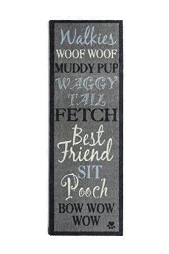 Howler y PET camino de mesa (50x 150cm Diseño Bow Wow 1por Howler y los arañazos cero