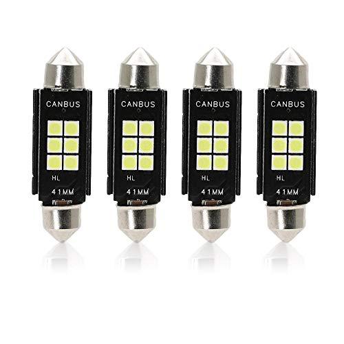 Luci Posizione LED Lampade, 41-42 mm, 239, 272, C5W, C10W, SV8.5 6-SMD 3030 12V 6000K Bianco Super Luminoso Per Luci Targa Auto Lampadina Luci LED Posizione Cortesia Interne Targa Lampade confezione