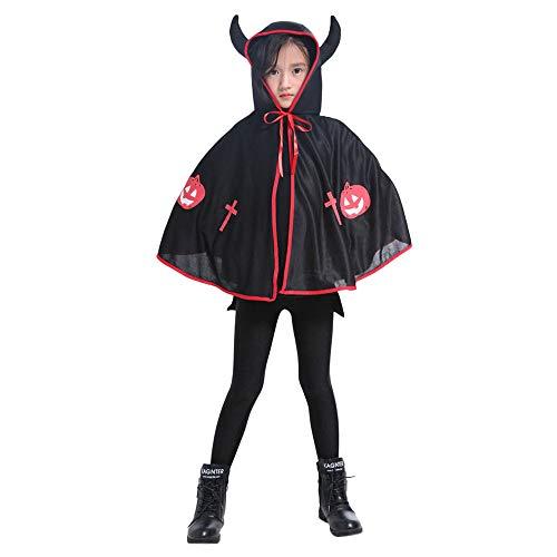 Männer Kostüm Pirat Vampir - GJKK Halloween Kostüm Kostüme für Kinder, Ochsenhorn Umhang Kap Robe Goth Devil Piraten Vampir Dämonen Umhang Cosplay Kostüm für Kinder
