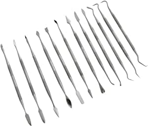 12 Piece Stainless Steel Wax Carving Set