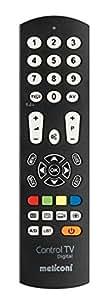 Meliconi CONTROL TV DIGITAL Telecomando di Ricambio Universale per TV, Compatibile con Tutte le Principali Marche e Modelli, Facile da Programmare