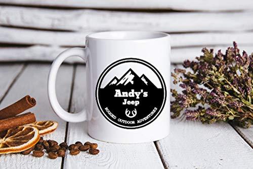 EstherBur87 personifiziertes Jeep mugPersonalized Becher Kaffeetasse Kaffee-Liebhaber-Geschenkgeschenk f¨¹r ihnUnique Kaffeetasse-keramische Tasse personalisiertes Geschenk