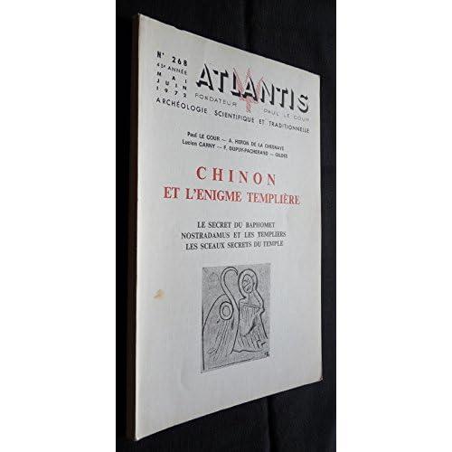 Atlantis n°268 - Chinon et l'énigme templière