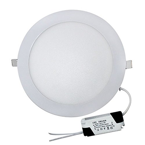 LE-LED Downlight - Bombilla LED redondo extraplano (aluminio, 18 W, 220 V,...