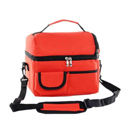 tragbare essen picknick tasche isolierte cooler bag eis tasche coole tasche mittagessen kit hand essen beutel versandkosten Rot