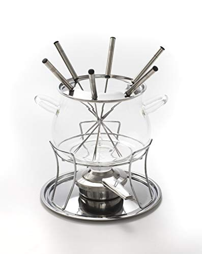 Style'n Cook Fondue Set inkl. Spritzschutz & Gabeln