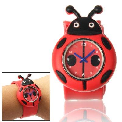 Cute Ladybug Style Case Cuarzo Reloj