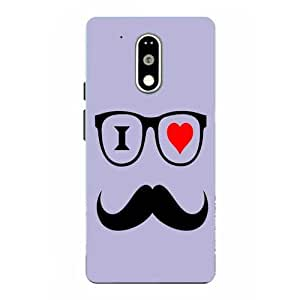 Moto G4 Play Mustache Printed Purple Hard Back Cover By Snazzy