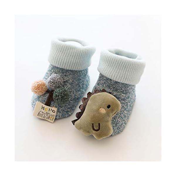 ZOOMY Baby Boy Girl Infant Kid First Walkers Sock Calcetín Antideslizante Suela para Suelo - purle 1