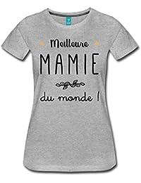 Spreadshirt Meilleure Mamie du Monde Étoiles T-Shirt Premium Femme 299123d2e23a
