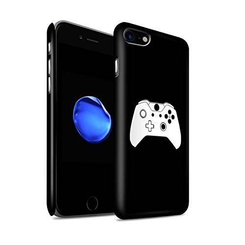 STUFF4 Matte Snap-On Hülle / Case für Apple iPhone 8 / Weiß PS4 Muster / Spielsteuerung Kollektion Weiß Xbox One