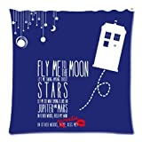 Roue Fly Me to The Moon and Let Me Play Among The Stars Square Zippered Pillowcase 18\n \n \n