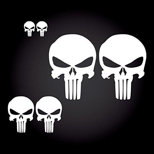 6-teiliges The Punisher Auto Aufkleber-Set JDM OEM Tuning Sticker Decal 30 Farben zur Auswahl