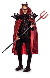 Folat Capa de diablo 63429 con cabeza, para Halloween, Carnaval (XL/XXL), rojo