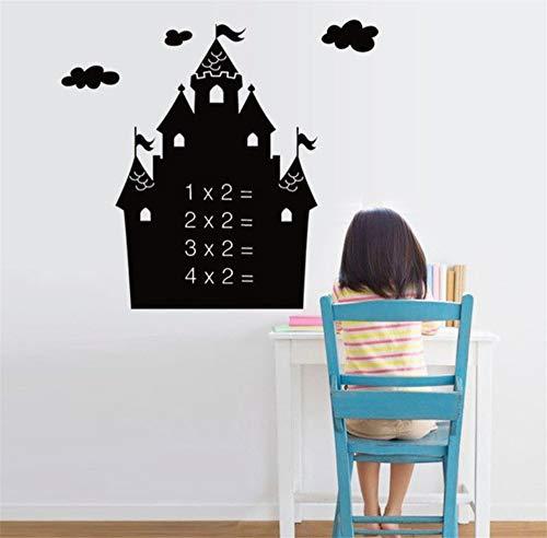 Zxfcczxf Kreide Board Aufkleber Tafel Diy Mit Transferfolie Cartoon Schloss Abnehmbare Ziehen Decor Wandtattoo Kunst Für Kinderzimmer 50 * 70 Cm
