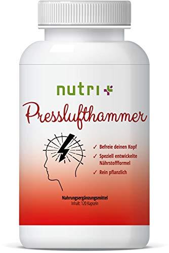 Presslufthammer 120 Kapseln - MIGRA Nahrungsergänzung - von Ernährungswissenschaftlern entwickelte Nährstoffformel mit Vitamin B2 für Energiestoffwechsel & Nervensystem -