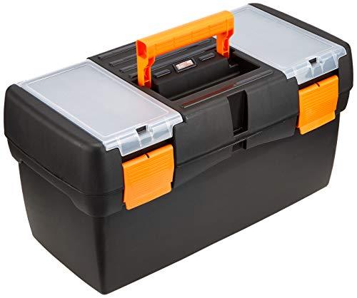 Tayg 115554 Werkzeugkoffer Basic 20 Zoll, 500 x 258 x 255 mm, schwarz / orange