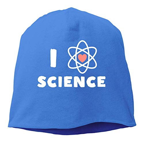 VYPHN I Heart Science Beanie Skull Cap for Women and Men - Winter Warm Knit Hat