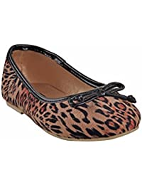 Beanz Lil Diva Leopard Print/Beige Shoes For Girls