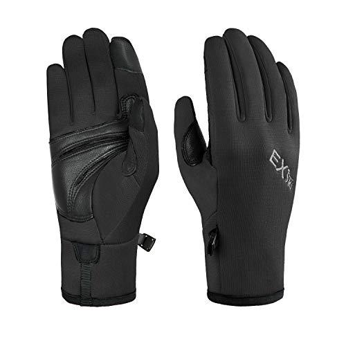 Botack Sensitive Touchscreen Laufhandschuhe Echtes Ziegenleder Palm Warme Handschuhe für Wandern Radfahren Fahren -