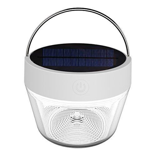 Le Lighting Ever Solarlaterne, für den Außenbereich, tragbar, wiederaufladbar, USB, Campinglampe, LED, warmweiß, RGB, dimmbar, wasserdicht, für Stimmung innen und außen