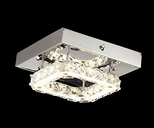 Glighone LED Deckenleuchte Kristall Kronleuchter Modern Deckenlampe Deckenbeleuchtung Kristallkronleuchter e27 Lampe für Flur Wohnzimmer Schlafzimmer Küche Treppenhaus Esstisch Hotel usw. (Alle Glas-kristall-kronleuchter)