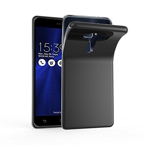 Cadorabo Hülle für ASUS ZenFone 3 Deluxe - Hülle in SCHWARZ – Handyhülle aus TPU Silikon im Ultra Slim 'AIR' Design - Silikonhülle Schutzhülle Soft Back Cover Case Bumper