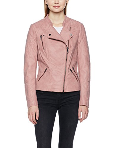 ONLY Damen Jacke Onlava Faux Leather Biker Otw Noos, Rosa (Ash Rose), 42