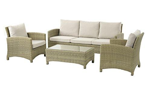 Naunton Manor cm große Sofa, zwei Sessel und - Couchtisch Wicker Große