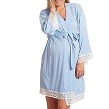 Yying Maternidad Ropa de Dormir de Encaje Costura Pijamas Vestidos para Mujeres Embarazadas Elegantes enfermería Camisones
