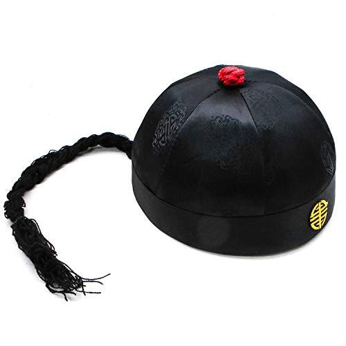 JETEHO Herren Chinesische Königliche Kaiserhut Rollenspiel Dekorative Cosplay Hut - Chinesischer Hut - Chinesisches Kostüm Party Hut Zubehör
