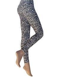 Silky - Leggings imprimé zébré - Femme
