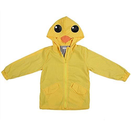 el Sommer Baby Mädchen Ente Wasserdichter Niedlicher Karikatur Hoodie Reißverschluss Leichter Regenbekleidung Mantel Outfit(90) ()