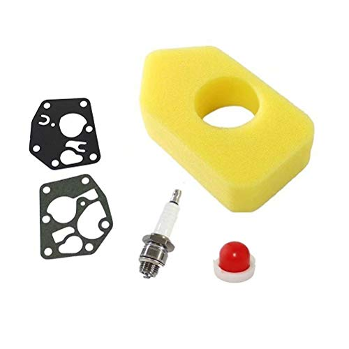 Jumbo Filtre kit de Filtre à air pour Briggs & Stratton 495770 795083 5083h 5083 K Weed Eater pour B & T 694394 494408 4178 5084h Rebuild kit avec Bougie d'allumage, Joint d'étanchéité