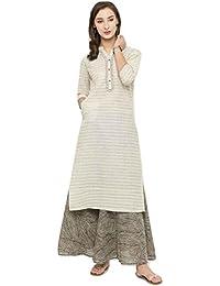 Clickedia Women's Ethnic Printed Rayon Cotton Kurti