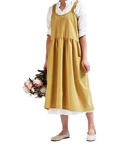 ACMEDE Tablier Bavette Adulte Robe pour Femmes Chef Compatible avec Cuisine, Home, Poterie, Artisanat, Atelier, et d'autres Activités