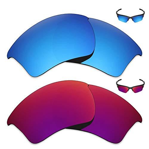 MRY 2Paar Polarisierte Ersatz Gläser für Oakley Half Jacket 2.0XL Sonnenbrille-Reiche Option Farben, Ice Blue & Midnight Sun