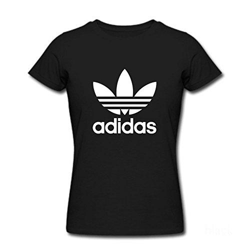 Adidas Logo - Camiseta - Para Mujer Negro Small