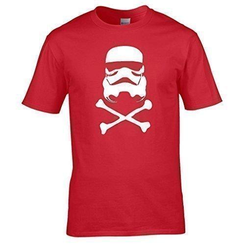 Naughtees kleidung - Sturmtruppler totenkopf T-shirt Rot