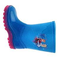Kids Girls Disney Frozen Wellington Boots Rubber Rain Snow Blue Pink Glitter Wellies Wellys Childrens Shoes Size UK 5 - 12