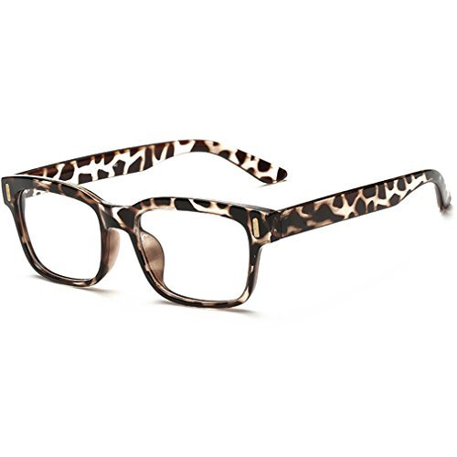 rnow Premium Unisex Retro quadratischer Rahmen Brille Fashion Optische,