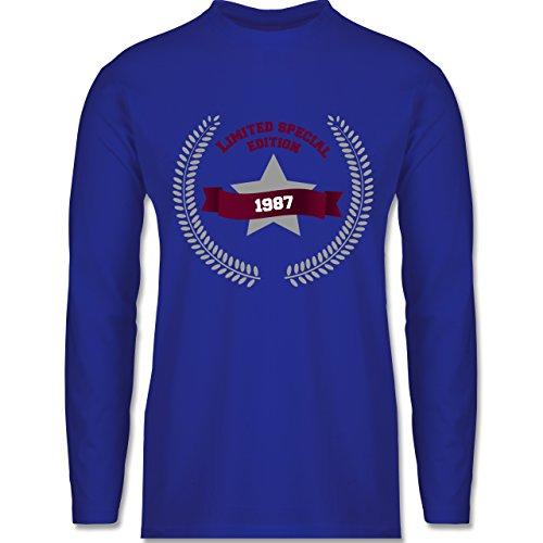 Shirtracer Geburtstag - 1987 Limited Special Edition - Herren Langarmshirt Royalblau