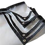 TANG CHAO Transparenter Wasserdichter Stoff 0,12mm, Plastikregen-Abdeckung, Fenster-Isolierungs-Plane, 120G / M² (größe : 2x4m)
