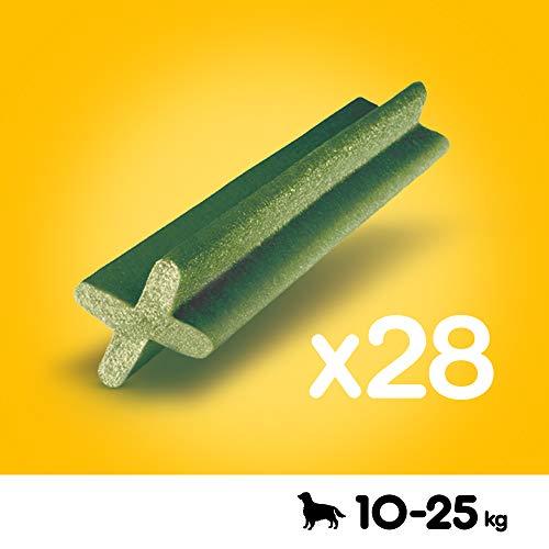 Pedigree DentaStix Fresh Hundesnack für mittelgroße Hunde (10-25kg), Zahnpflege-Snack mit Eukalyptusöl und Grüner Tee-Extrakt, 4 Packungen je 28 Stück (4 x 720 g) - 2