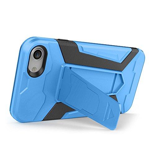 Cover iPhone 7 Custodia iPhone 7 Hard Anfire Belt Clip Holster Kickstand Case Cover per iPhone 7 (4.7 Pollici) Ultra Sottile Liscio Opaco Antiurto Protettivo Bumper Paraurti Rugged Adatta Shell Cassa  Blu
