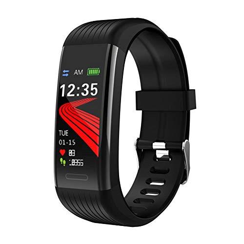 FGHKMJHB Sport Smart Band Fitness Tracker Herzfrequenz Blutdruck-Sauerstoffmessgerät IP67 Smart Bracelet Call Reminder Gesundheitsuhren, Schwarz